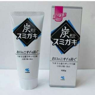 black active charcoal tooth paste from japan