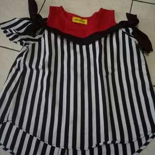 blouse sabrina anak
