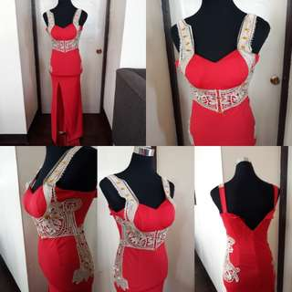 Sexy Red Bodice Type Long Gown Xs to Small #freeshipping