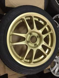 "15"" gold colour sport rims with 175/50/15 tyres for Kia Picanto"