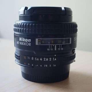 Nikon 50mm f1.4D Lens