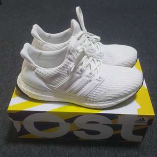 Authentic Adidas Ultraboost Ultra Boost Triple White 4.0