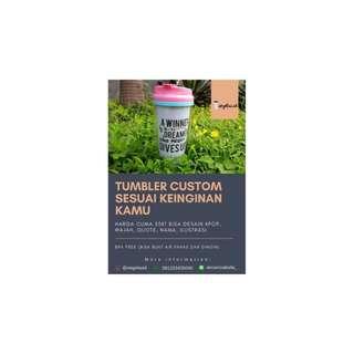 custom tumbler