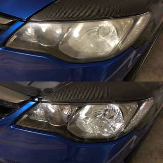 Honda Civic Headlight Restoration