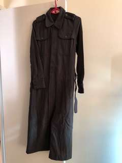 最後減價initial 55%羊毛女裝軍裝連身裙