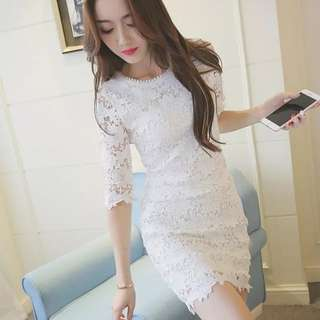 <P.O> Trendy Lace Dress