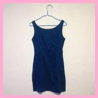 Dress / Terusan Polos Biru Dongker / Navy