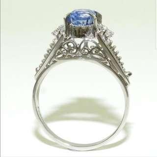 1.31 ct Sapphire & Diamond Ring - Platinum