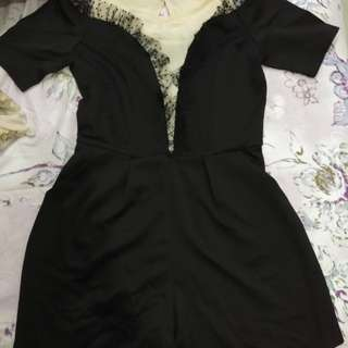 Jumpsuit hitam elegan