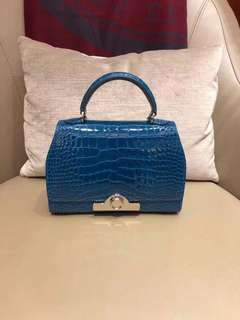 Moynat 藍色鱷魚皮手袋💕