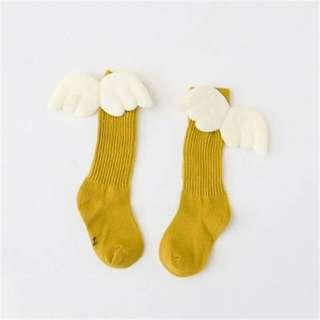 Socks - Angel Wing 3d (Mustard Yellow)