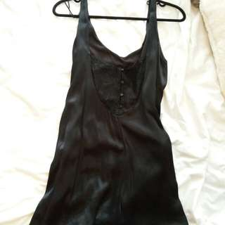 Silk Romper/ Playsuit with Lace Detailing