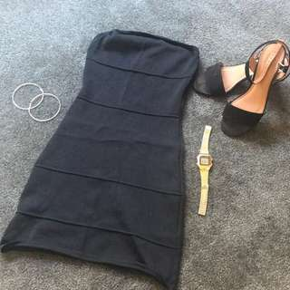 Zimmermann Black Bandage Tube Dress Size 1