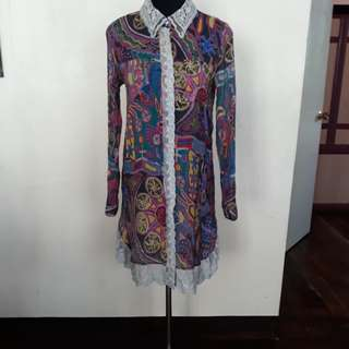 Brand New Printed Dress Free Shipping
