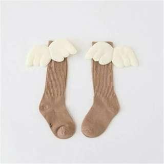 Socks - Angel Wing 3d (Brown)