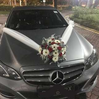 Wedding Car Decor Fresh Flowers