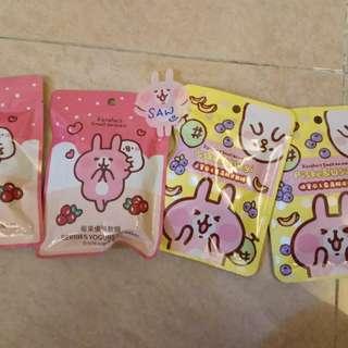 兔兔台灣限定 kanahei 果汁 軟糖