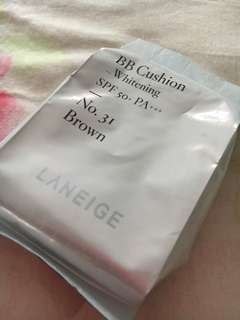 Laneige bb cushion no 31 brown Refill