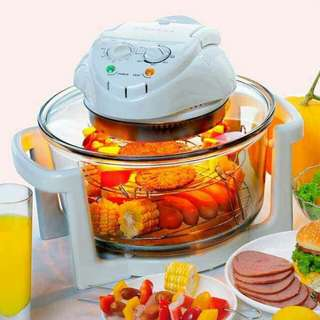 Flavorwave 12L Halogen Oven Turbo Halogen Convection Oven With Glass B