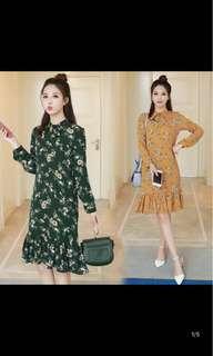 [P.O] Korean Style Floral Dress