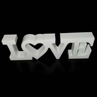 LOVE white sign - wedding or proposal decor