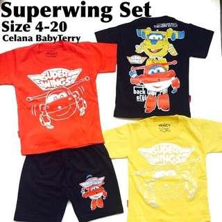 Setelan anak superwings
