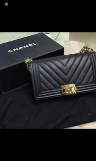 Chanel Old Medium Chevron boy