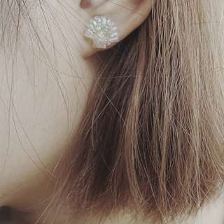 Customizable Shell Crystal Earring