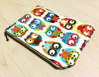 Owl quilted pouch
