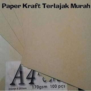 BROWN PAPER / CRAFT PAPER / KERTAS KRAFT