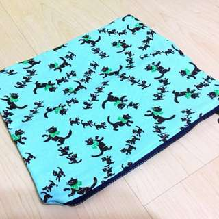 Ipad Tab fabric pouch  - black cat
