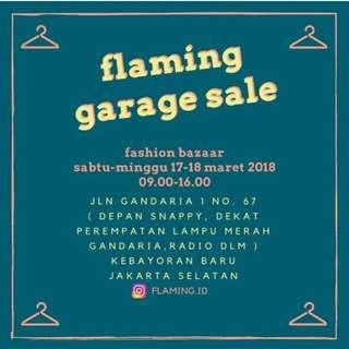 Hai Prelove bazaar di Flaming Garage Sale Gandaria!!