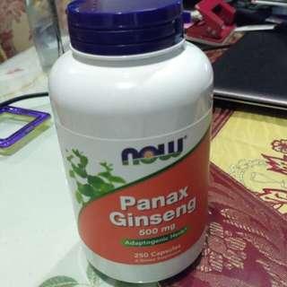 Panax Ginseng, 500mg 250 capsules