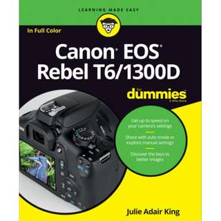Canon EOS Rebel T6/1300D For Dummies eBook