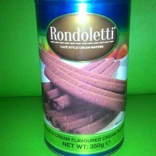 Rondoletti cookies & cream wafers