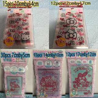 LAST SET My Melody Hello Kitty Zip Lock Top Bag
