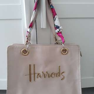 FREE SHIPPING-AUTHENTIC HARRODS TOTE SHOULDER PINK BAG