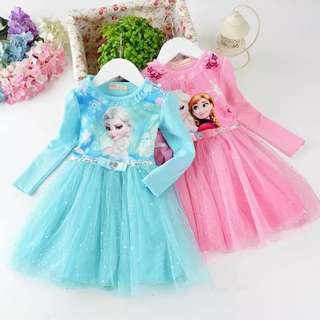 Frozen Elsa dress 👗👗👗 3 Color