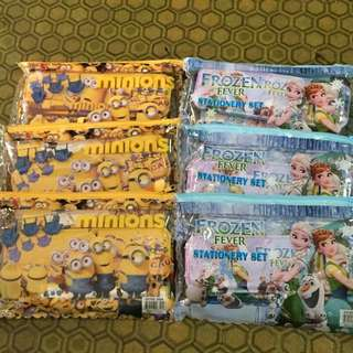 Minion and Frozen Stationery