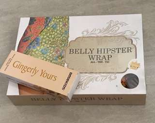 Alltentic belly hipster wrap(Size S)and ginger cream for postnatal
