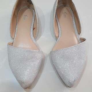 Flat shoes glitter