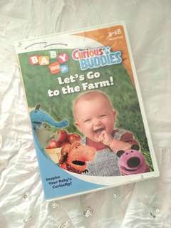 Charity Sale! Baby Nick Jr. Curious Buddies Let's Go to the Farm DVD Movie