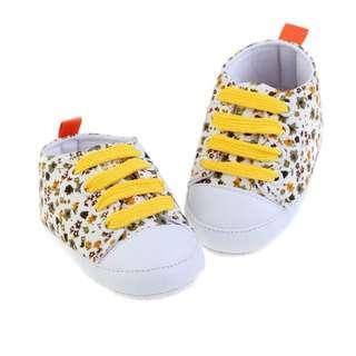 Flowery Yellow Pre walker Shoe