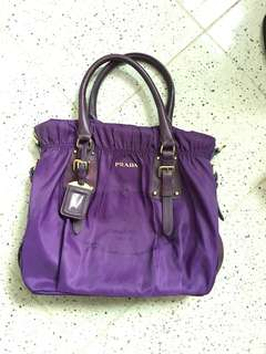 Prada Nylon Jacquard Purple colour