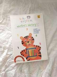 Charity Sale! Baby Einstein Numbers Nursery Ages 1+ DVD Disney