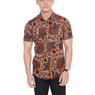 SHORT SLEEVE SHIRT SSB16-081 (BROWN)