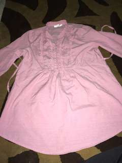 Maternity blouse - pink