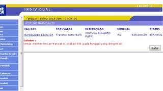 CHINTYA RUHANTO PUTRI no account BRI , PENIPU ONLINE!!!!!