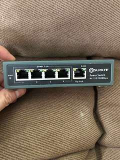 4 Port 10/100 Mbps POE Switch