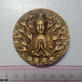 瀋陽造幣廠 201X年千手觀音大銅章 少見 手感佛教 雕刻仔細 平出43